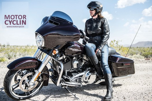 Girl on a Harley Davidson FLHXS STREET GLIDE