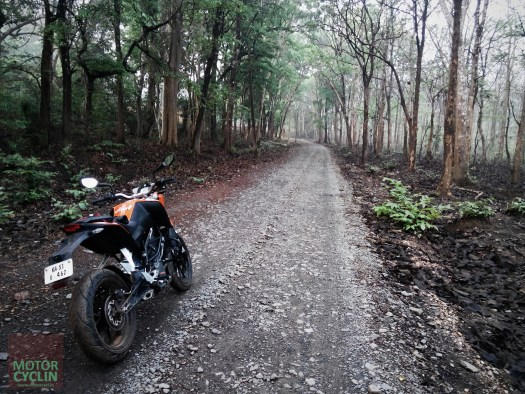 KTM Duke on gravel roads