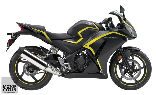 Yellow and Black 2015 CBR 300R & CBR 300R ABS