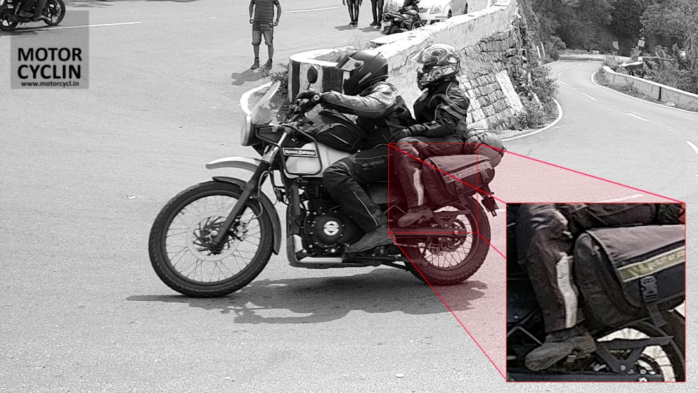 Clearance of the saddlebag stay for Himalayan