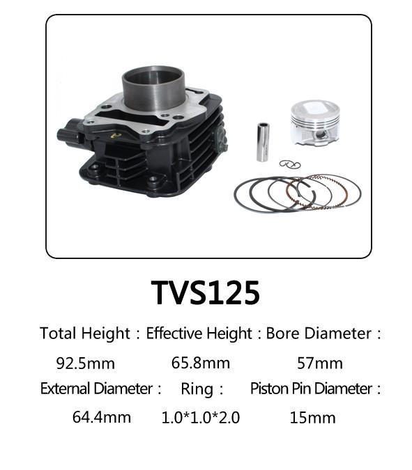 Indian Model TVS 125 Motorcycle Big Bore Cylinder Kits