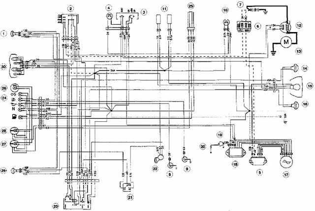 wiring schematic for moto guzzi