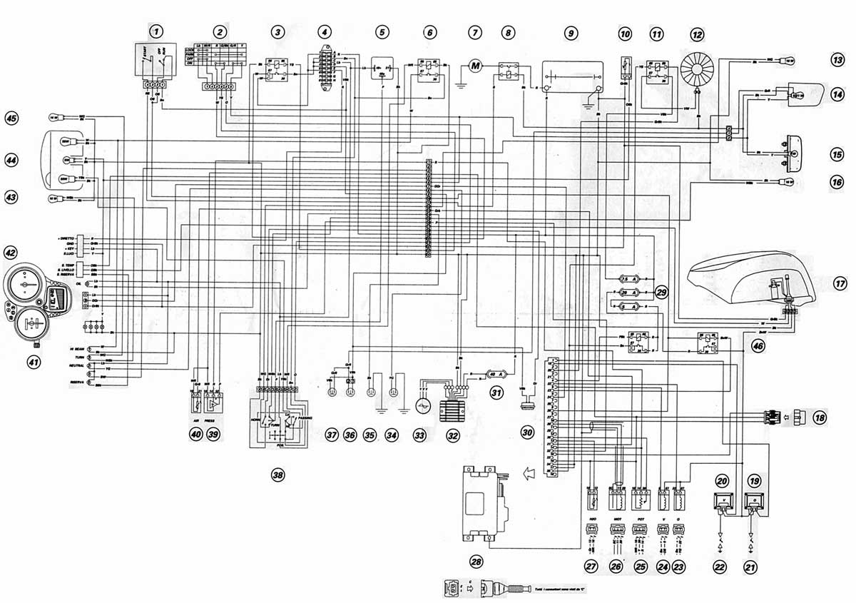 ducati pantah 500sl electrical wiring diagram