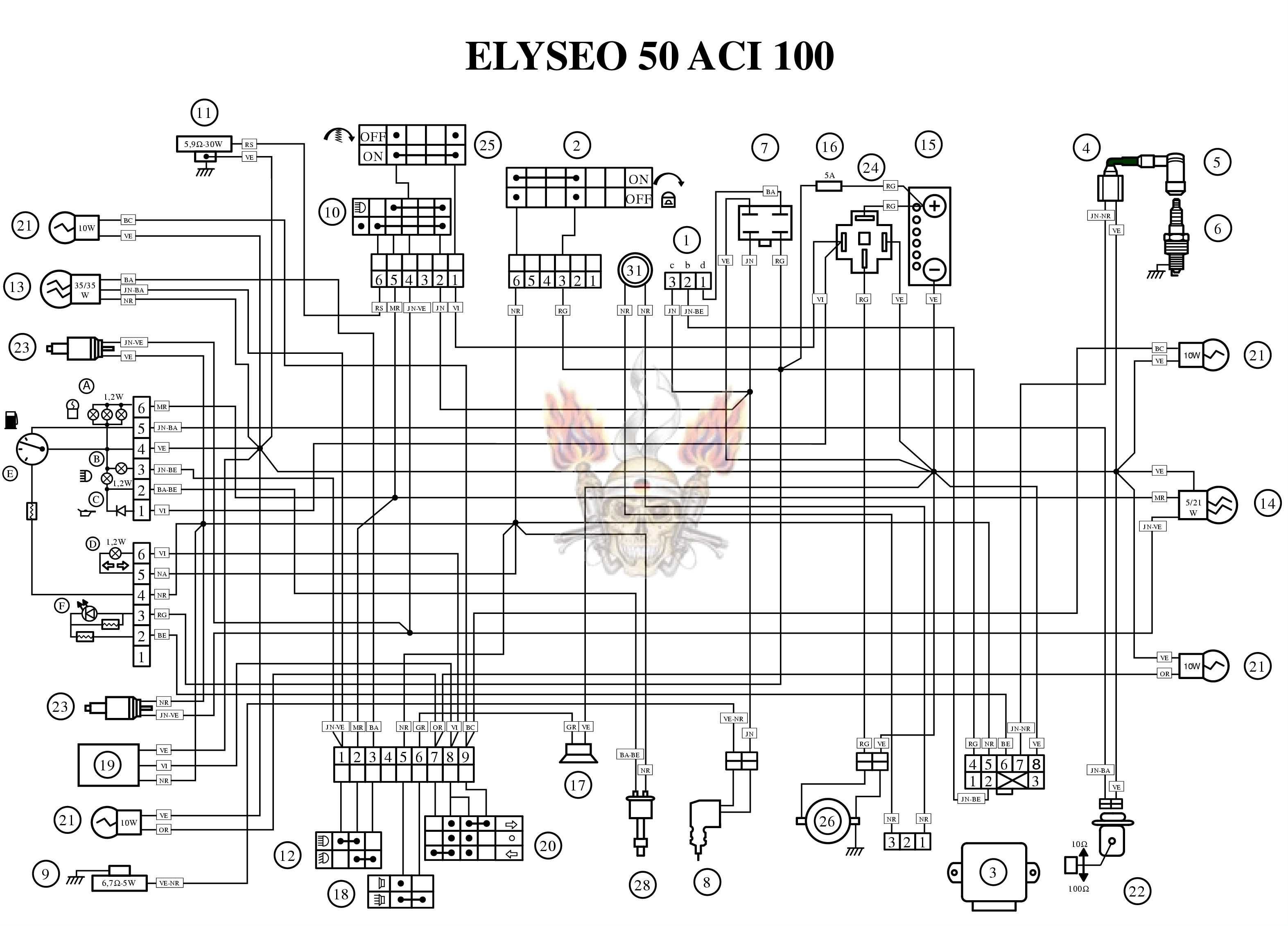 peugeot speedfight 100 wiring diagram