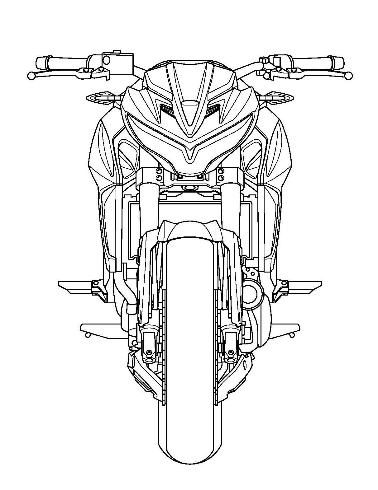 Kymco Patents its Version of Kawasaki ER-6n