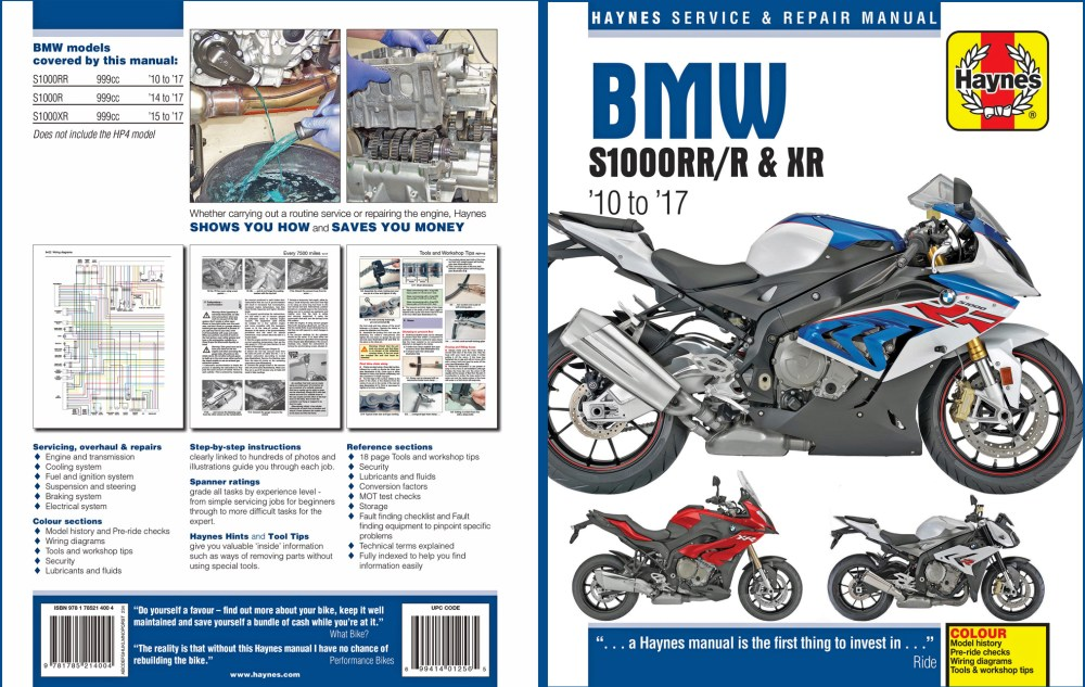 medium resolution of take care of what takes care of you bmw s1000 book