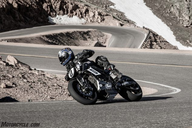 Riding the Zero SR/F Pikes Peak Racer