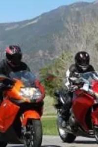 Both bikes have terrific ABS brakes and smallish fuel tanks.