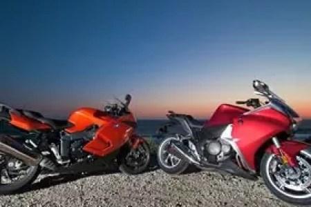 The sportbikes of sport-tourers: BMW K1300S vs Honda VFR1200F.