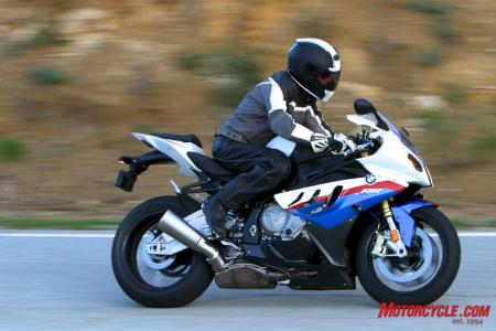 The white, red and blue Motorsports color scheme for the S1000RR is available for an additional $750.