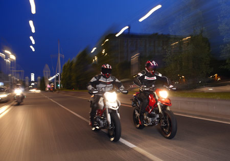 Riding at night can be very enjoyable.