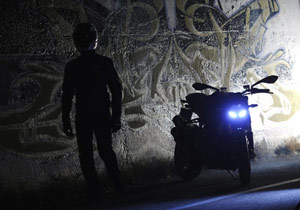 Take an objective look at how visible your motorcycle is in dark lighting conditions.