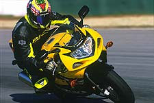 Despite the mid-corner bumps at Road Atlanta, the new GSX-R's chassis remained settled even at triple digit speeds.