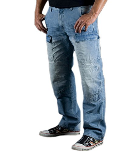 Newfacelook Mens Motorcycle Protective Lined 14OZ Jeans Pants Trousers