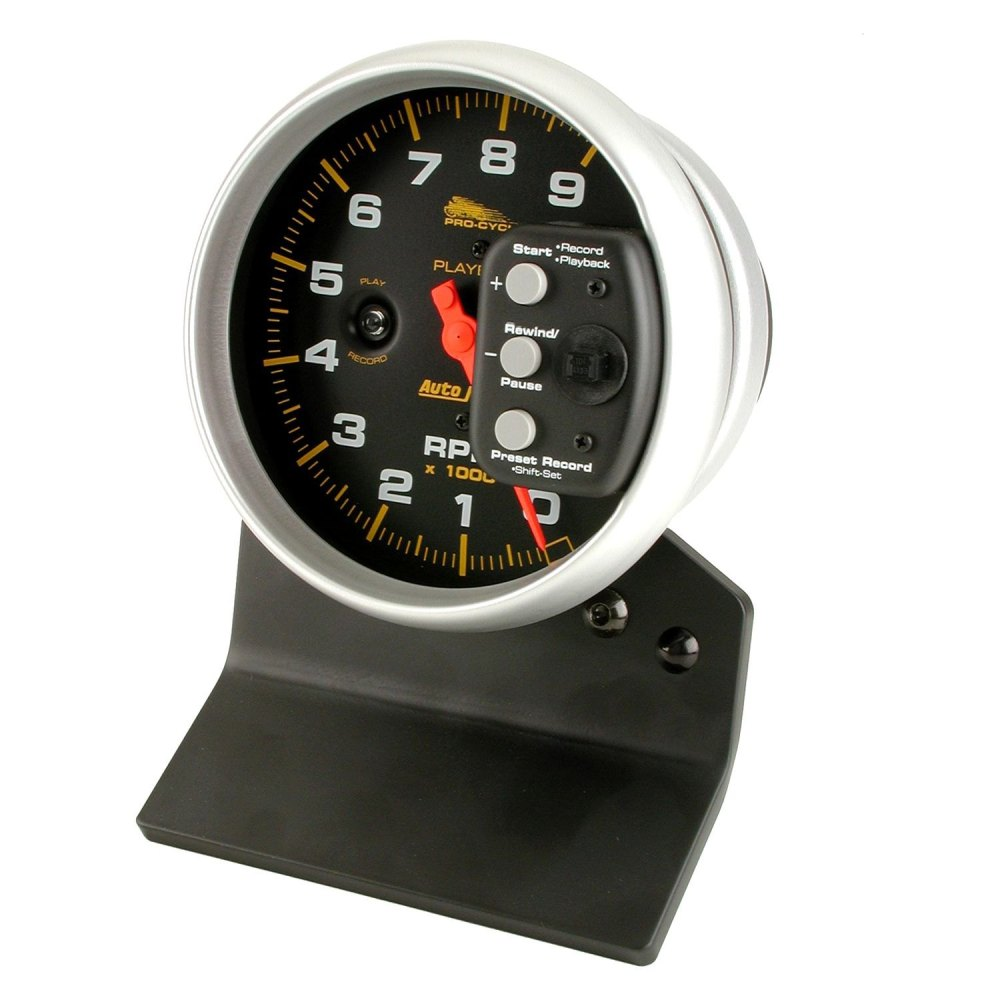 medium resolution of auto meter pro cycle series 5 pedestal tachometer gauge