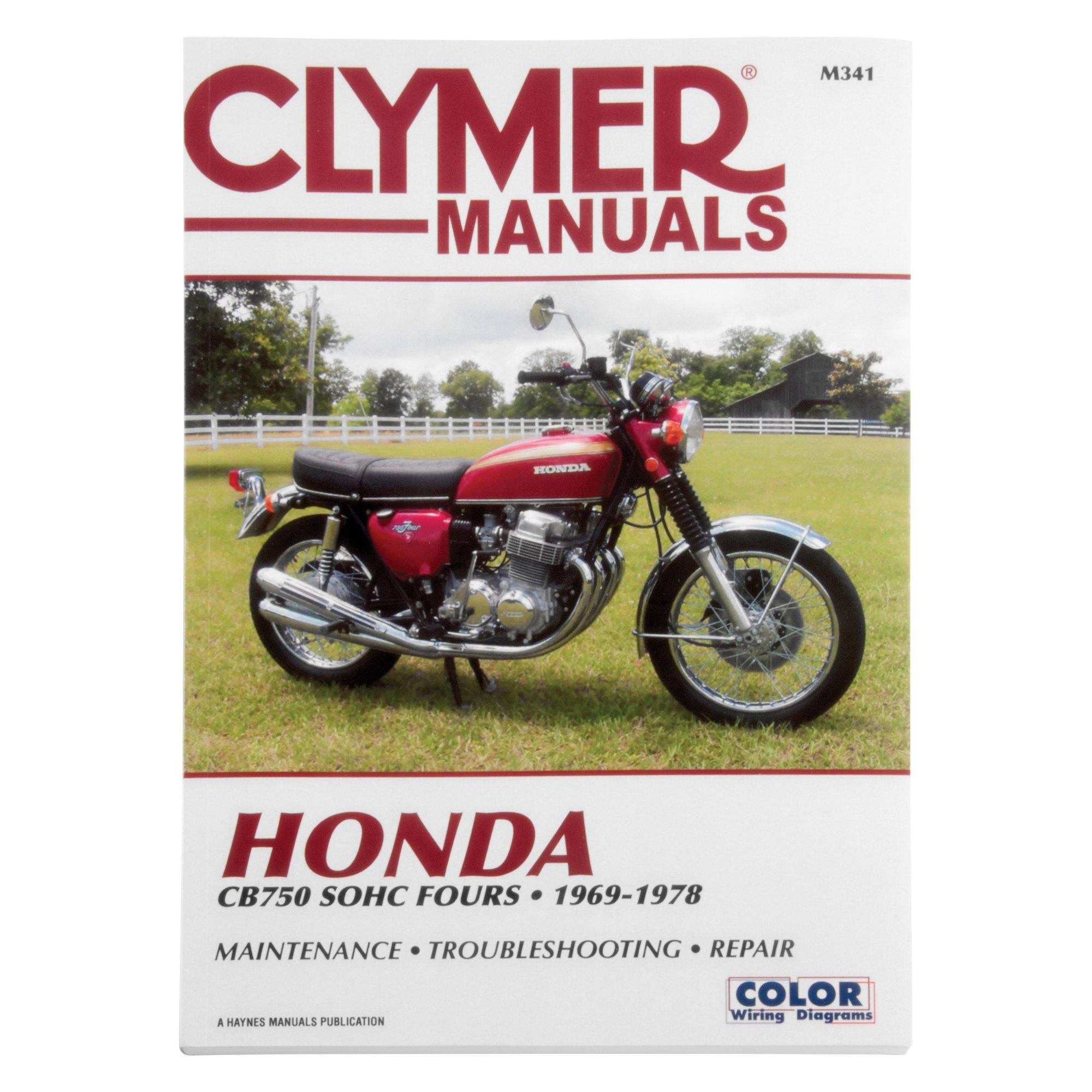hight resolution of clymer m341 honda cb750 sohc 1969 1978 manual motorcycleid comclymer honda cb750 sohc 1969