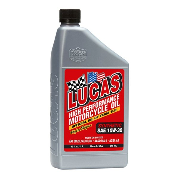 Lucas Oil 10708 - Sae 10w-30 1 Qt. Motorcycle Synthetic