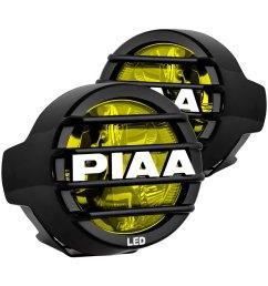 piaa lp 530 sae 3 5 2x8w round fog beam yellow led lights [ 1000 x 1000 Pixel ]