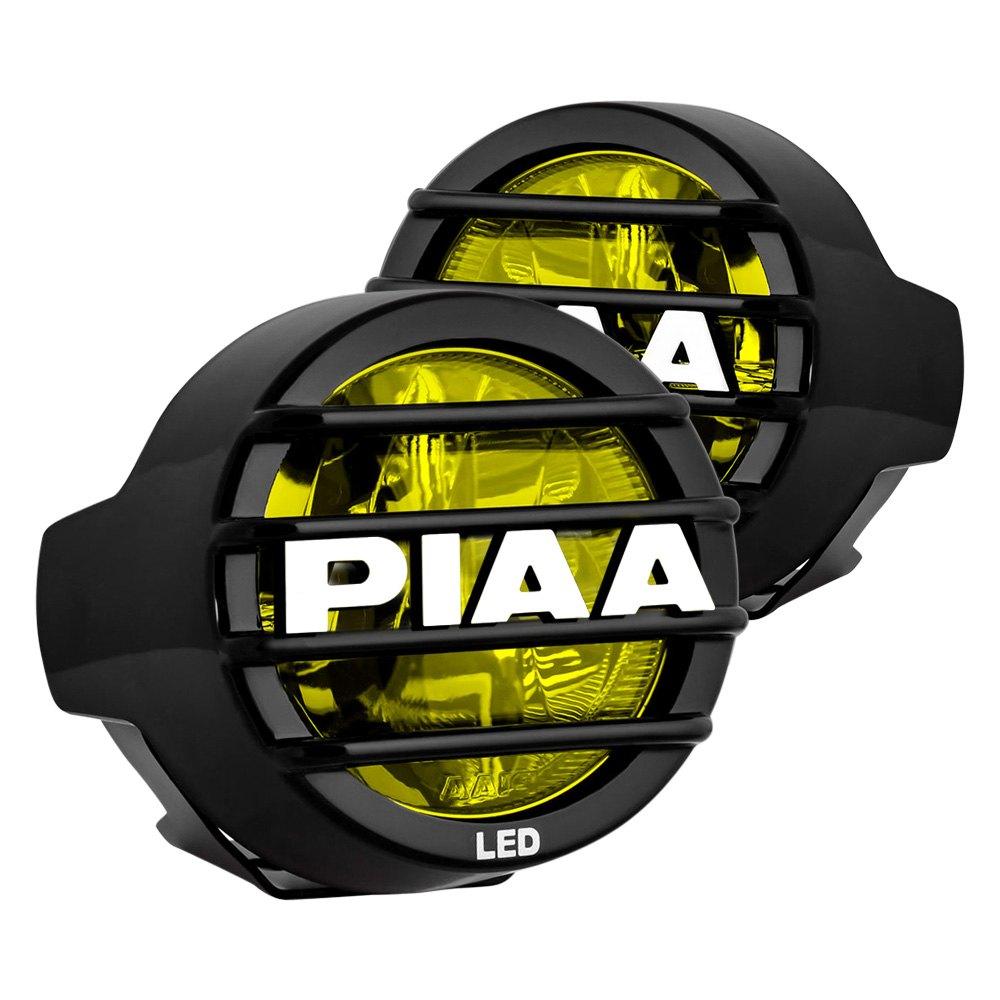 hight resolution of piaa lp 530 sae 3 5 2x8w round fog beam yellow led lights