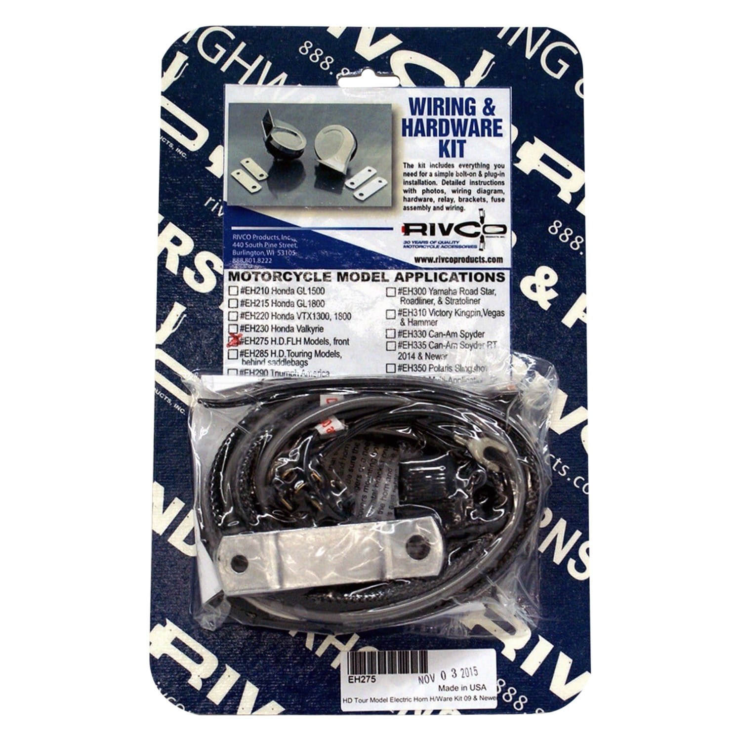 hight resolution of rivco electric horn wiring kit