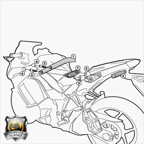 GIVI 4100KIT Specific Kit for Kawasaki Z 1000 SX