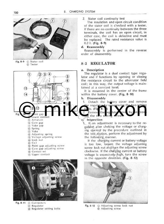 vintage honda sohc 750 voltage regulator adjustment www