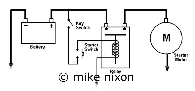 wiring a motorcycle starter