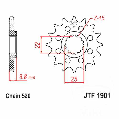 Front Sprocket Racing 13 Tooth Pitch 520 For Polaris