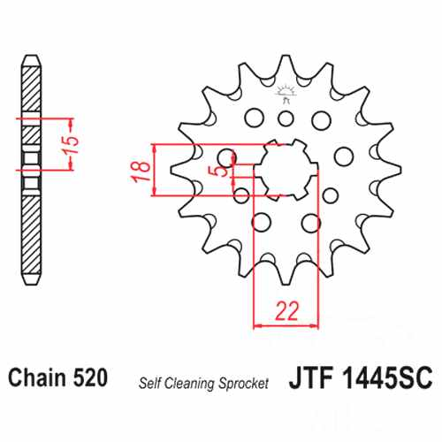 Front Sprocket Racing 12 Tooth Pitch 520 For Kawasaki KX