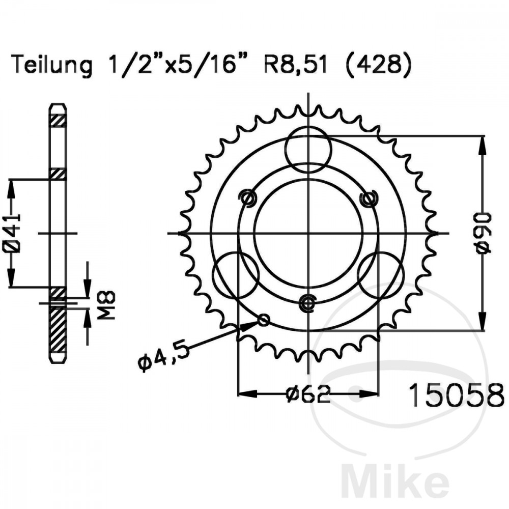 Rear Sprocket 28 Tooth Pitch 428 For Aeon Cobra 50 2008