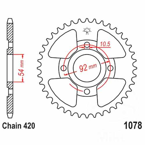 Rear Sprocket 60 Tooth Pitch 420 For Yamaha TZR 50 2003