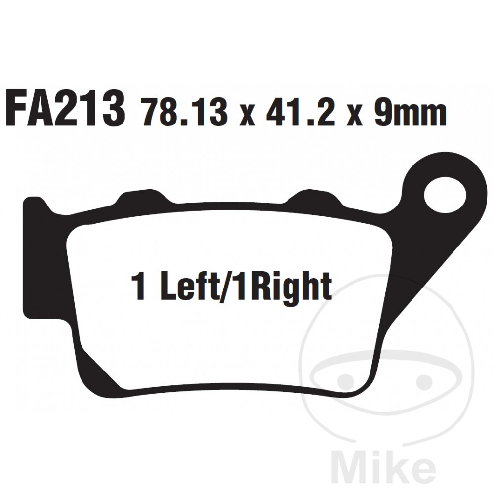 Brake Pad Sintered HH Scooter EBC For BMW C1 125 2000