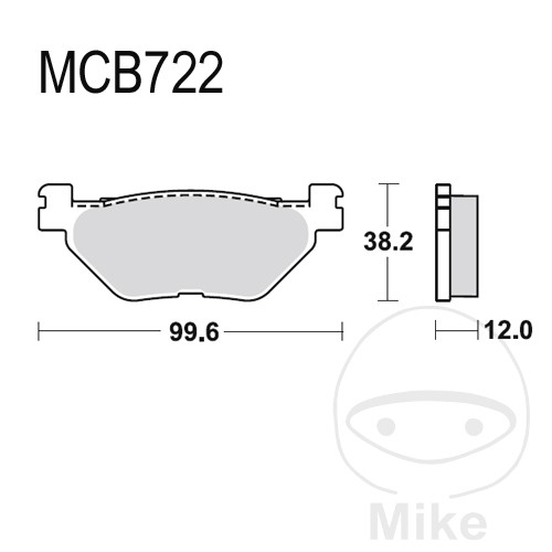 Scooter Brake Pads Sintered TRW For Yamaha XP 500 Tmax