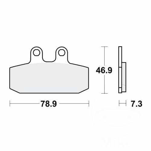 Brake Pads LC TRW MCB557LC For Aprilia Scarabeo 125 1999