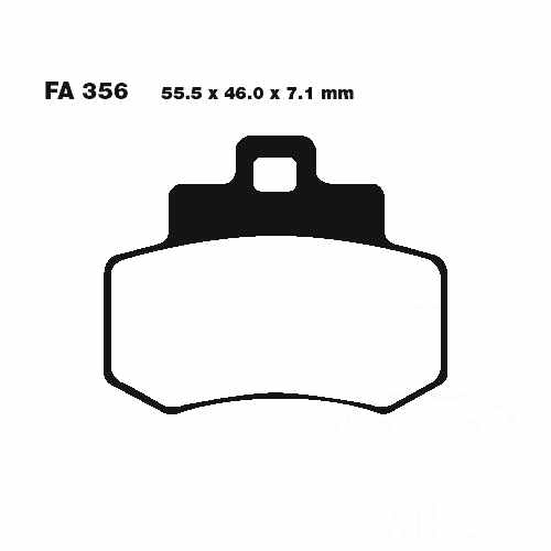 Scooter Brake Pads EBC For Kymco Grand Dink 250 2001