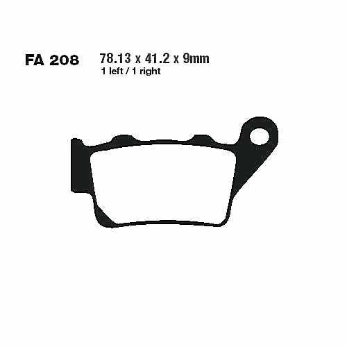 Brake Pads Sintered R EBC Mx For KTM Adventure 640 LC4