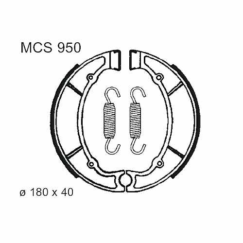 Brake Shoes Rear With Springs TRW Lucas For Yamaha XJ 550