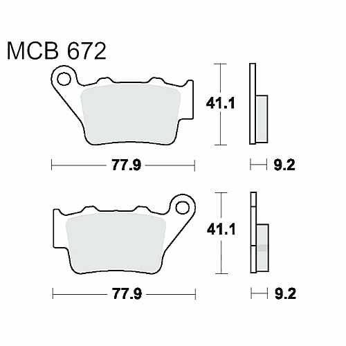 Brake Pads Sintered Si TRW MCB672Si For Husaberg FC 350