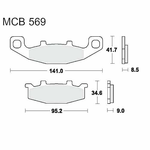 Brake Pads Sintered Sv TRW For Kawasaki ER 500 A Twister