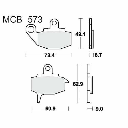 Brake Pads Standard TRW Lucas For Kawasaki KLR 650 A 1987