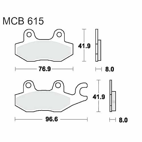 Brake Pads Standard TRW MCB615 For Cagiva Elefant 900 ie