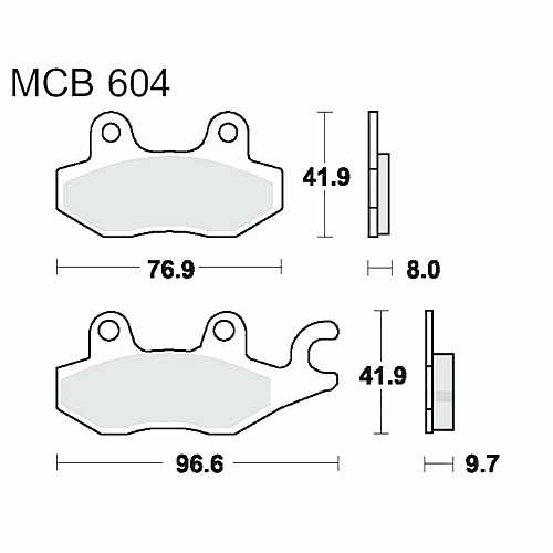 Brake Pads Rear Sintered TRW Lucas For Triumph Daytona