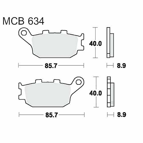 Brake Pads Sintered Sh TRW For Yamaha FZ1 1000 N 2006