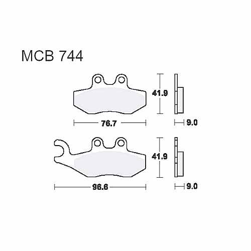 Scooter Brake Pads TRW MCB744Ec For Aprilia SR 125 Motard