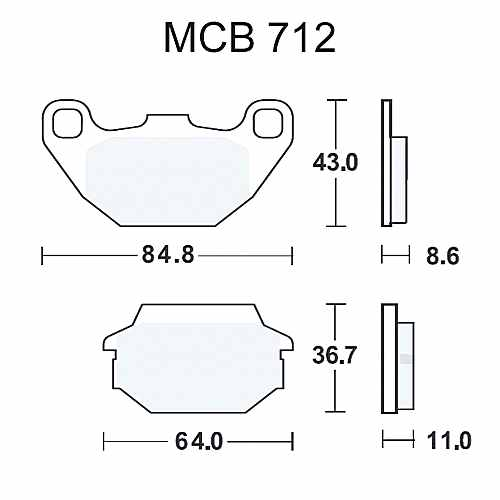 Scooter Brake Pads Sintered Srm TRW For Kymco Agility 125