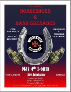 2nd Annual Horse Shoes & Hand Grenades @ American Legion Post 7