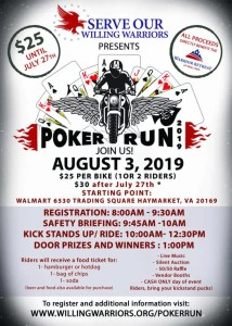 SERVE OUR WILLING WARRIORS POKER RUN @ Walmart