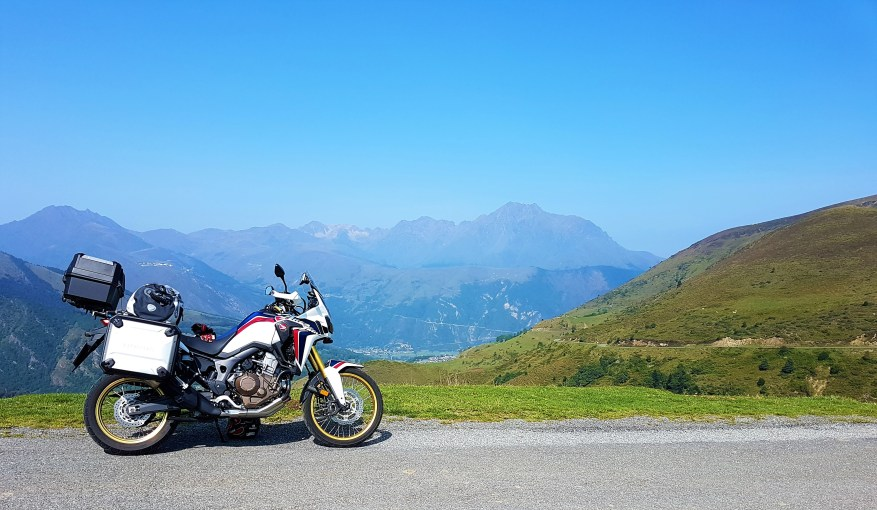 My first Africa Twin in the Pyrenees