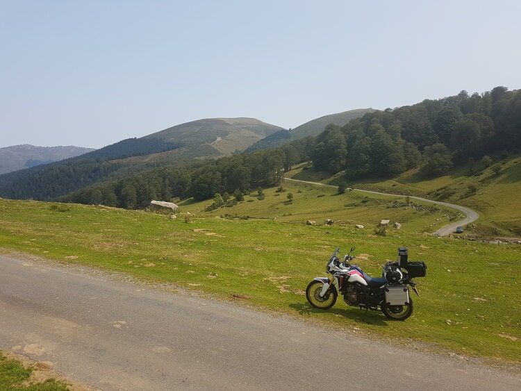 africa twin in the pyrenees