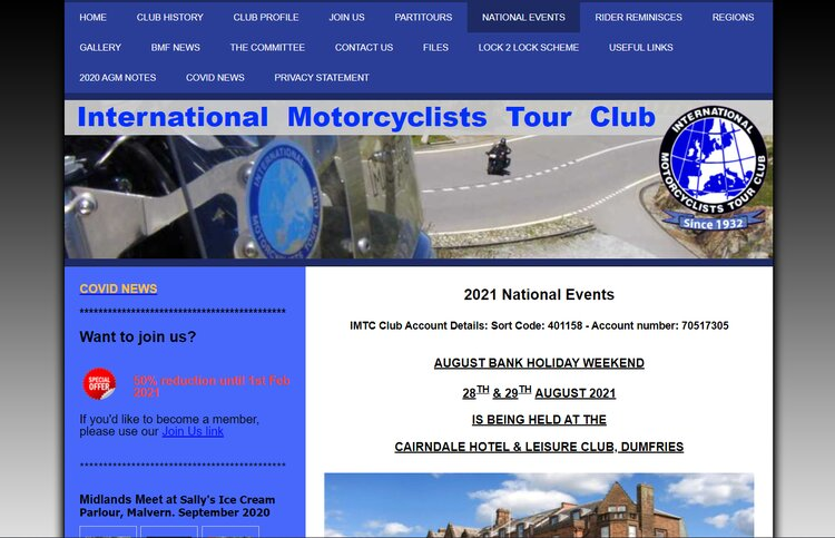 international motorcyclists tour club